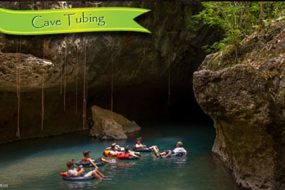 family cave tubing