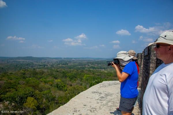On top of El Castillo at Xunantunich