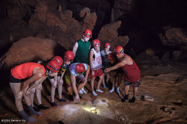 Group of People inside the ATM Cave