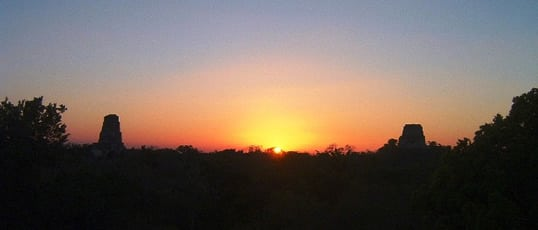 tikal-sunset