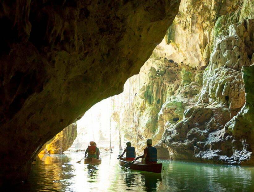 barton creek cave canoeing