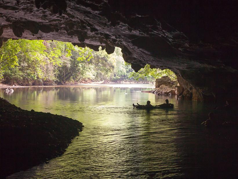 cave tubing exit