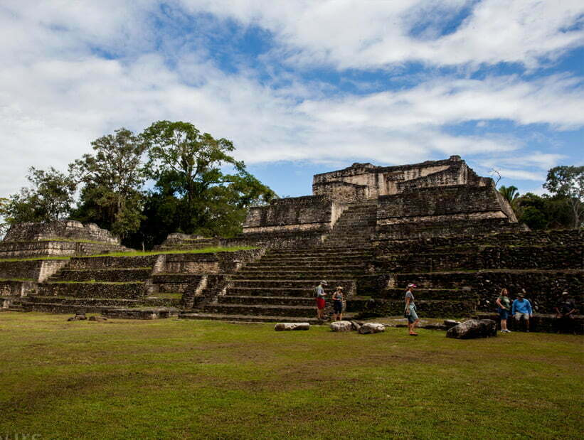 smaller temple Caracol site