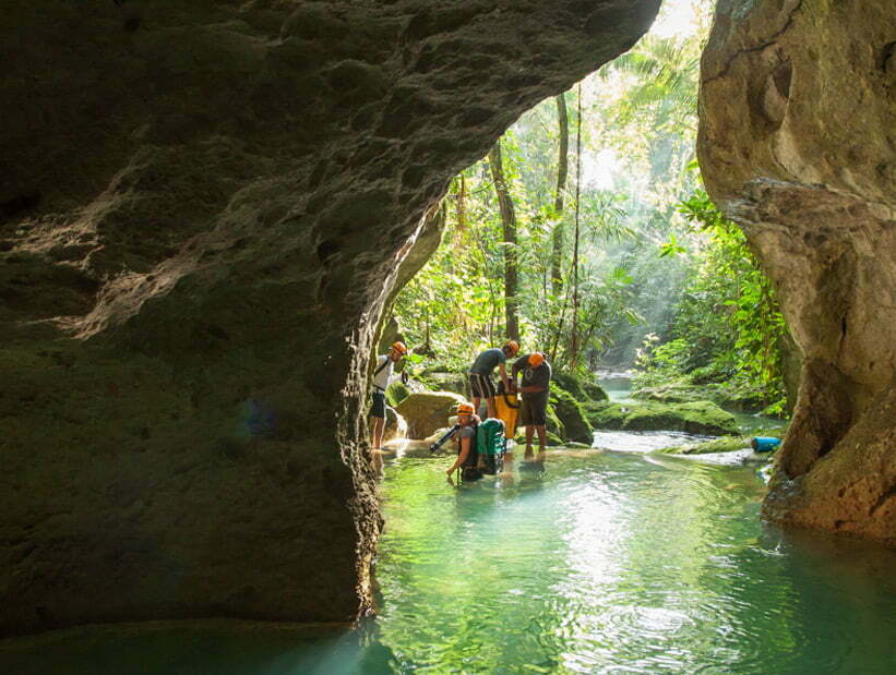 swim into atm cave
