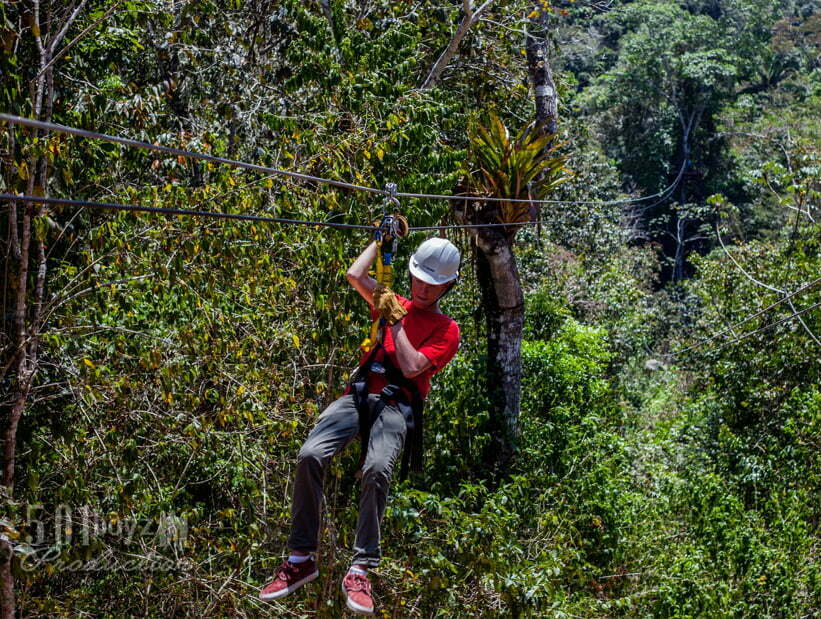 tree top zip lining in belize